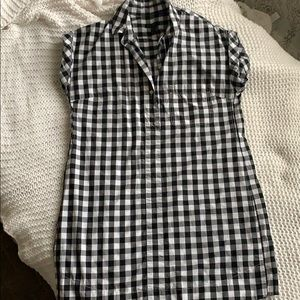 J. Crew black & white gingham dress